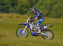 SIBIU, ROMANIA - JULY 16: Brett Swanepoel competing in Red Bull ROMANIACS Hard Enduro Rally with a Yamaha YZF motorcycle. The hard Stock Image