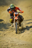SIBIU, ROMANIA - JULY 18: Chris Perry competing in Red Bull ROMANIACS Hard Enduro Rally with a Wildwood extreme motorcycle. The ha. Rdest enduro rally in the Royalty Free Stock Images