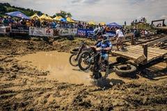 SIBIU, ROMANIA, JULY 16, 2016: Competitors at Red Bull ROMANIACS Hard Enduro Rally Royalty Free Stock Images