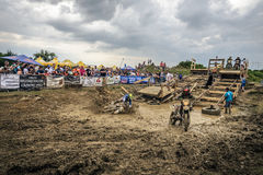 SIBIU, ROMANIA, JULY 16, 2016: Competitors at Red Bull ROMANIACS Hard Enduro Rally Stock Photography