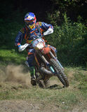 SIBIU, ROMANIA - JULY 16: Unknown competing in Red Bull ROMANIACS Hard Enduro Rally with a KTM 300  motorcycle. Stock Photo