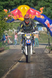 SIBIU, ROMANIA - JULY 16: Unknown competing in Red Bull ROMANIACS Hard Enduro Rally with a KTM 300  motorcycle. Stock Photos
