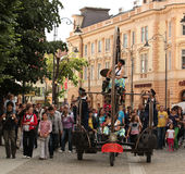 Music in Sibiu old city centre Royalty Free Stock Photo