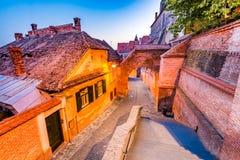 Sibiu, Transylvania, Romania - Passage of the Stairs Royalty Free Stock Photography