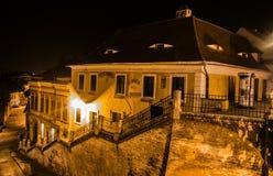 Sibiu, Romania. Photo made by night Stock Image