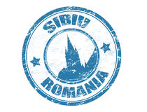 Sibiu - Romania stamp stock illustration