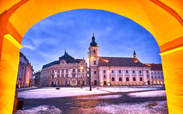 Sibiu Romania Transilvania City Hall Royalty Free Stock Images