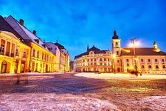 Sibiu Romania Transilvania City Hall Stock Photo