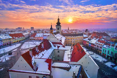 Sibiu Romania Transilvania at Sunset Stock Photography
