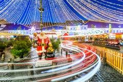 Sibiu, Transylvania, Romania, Christmas Market. Sibiu, Romania. Winter tale at Christmas Market, largest in Transylvania, Europe Stock Photography