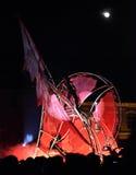 Effets spéciaux et cadres pendant le théâtre de la rue Pi-Leau Images stock