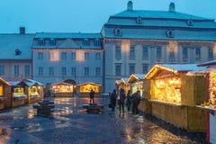 Sibiu, Roumanie - 27 novembre 2017 : Marché de Noël à Sibiu Photos libres de droits