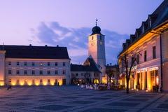 Sibiu Rumänien arkivfoto
