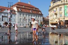 Sibiu Rumänien Royaltyfri Bild