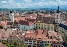 Sibiu in Rumänien Stockfotos