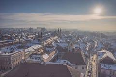 Sibiu Rumänien Arkivbild