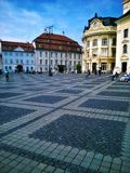 Sibiu-Rumänien arkivbild