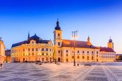 Sibiu Rumänien, Royaltyfria Bilder