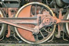 SIBIU, Rumania - rodillo impulsor de una locomotora del motor de vapor Fotografía de archivo libre de regalías