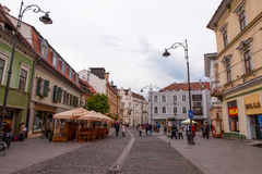 Sibiu's old city center, Sibiu is a city in Transylvania, Romania Royalty Free Stock Images