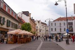 Sibiu's old city center, Sibiu is a city in Transylvania, Romania Stock Photography