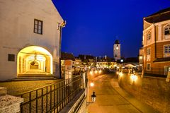 Sibiu, Siebenbürgen, Rumänien Stockfotografie