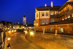Sibiu, Siebenbürgen, Rumänien Stockfotos