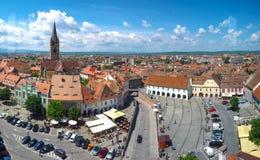 Sibiu skyline, Transylvania, Romania. Panoramic view of the Smal Stock Photography