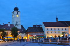Sibiu Small Square Royalty Free Stock Photo