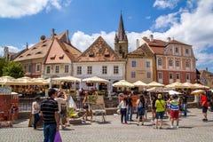 Sibiu stad Arkivbilder