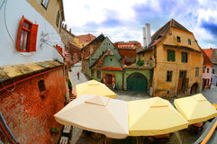 Sibiu stad Roemenië Royalty-vrije Stock Foto