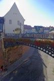Sibiu stad in Transsylvanië royalty-vrije stock foto