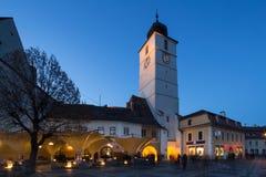Sibiu Stadscentrum Royalty-vrije Stock Afbeeldingen