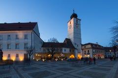 Sibiu Stadscentrum Royalty-vrije Stock Foto