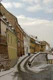 sibiu stara zima śnieżna grodzka fotografia stock