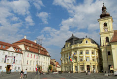 Sibiu town in Transylvania, Romania Stock Images