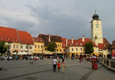 Sibiu town in Transylvania, Romania Stock Photos