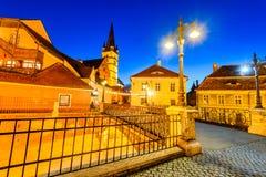 Sibiu, Transylvania, Romania - Liars Bridge Stock Photo