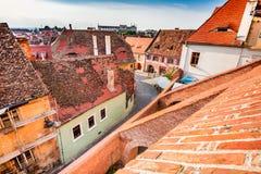 Sibiu, Transylvania, Romania - Passage of the Stairs Stock Photos