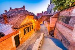 Sibiu, Transylvania, Romania - Passage of the Stairs Stock Photography