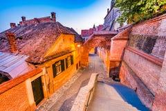 Sibiu, Transylvania, Romania - Passage of the Stairs Stock Image