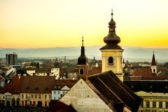 Sibiu Transylvania, Rumänien Arkivbilder