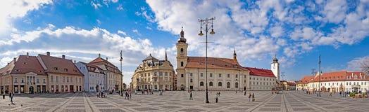 Sibiu Transylvania, Rumänien Fotografering för Bildbyråer