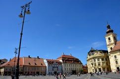 Sibiu Transylvania plaza Royalty Free Stock Image