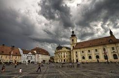 Sibiu tusen dollarfyrkant arkivbilder