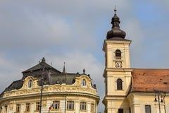 Sibiu uitstekende architectuur Royalty-vrije Stock Afbeeldingen