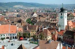 Sibiu, una ciudad rumana hermosa, el casquillo cultural Imagenes de archivo