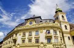 Sibiu urząd miasta Zdjęcie Royalty Free