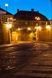 Sibiu - vista di notte Fotografia Stock