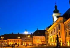Sibiu - vue de nuit Image stock